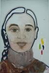 portret van neeltje - olieverf op doek 2014